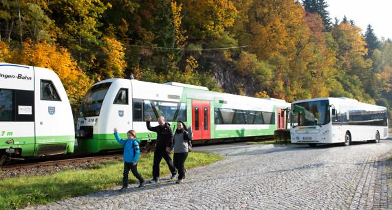 Mit der Gästekarte Bus & Bahn fahren